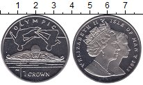 Изображение Мелочь Великобритания Остров Мэн 1 крона 2012 Медно-никель UNC