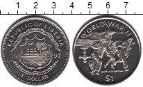 Изображение Мелочь Либерия 1 доллар 1997 Медно-никель UNC Вторая мировая война