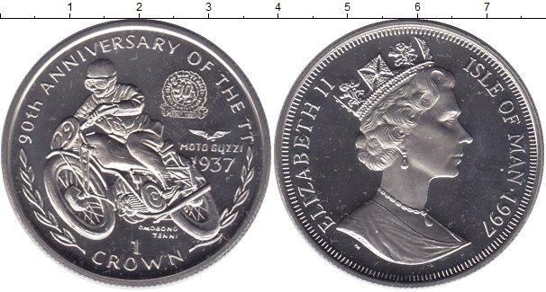 Картинка Мелочь Остров Мэн 1 крона Медно-никель 1997