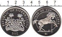 Монета Сьерра-Леоне 1 доллар Медно-никель 2002 UNC
