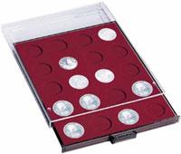 Картинка Аксессуары для монет Круглые ячейки Leuchtturm (Германия) Планшет MB 24R/41 на 24 круглые ячейки - Ø монеты 41 (№302572)  0