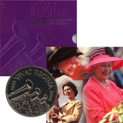 Изображение Подарочные наборы Великобритания 80-летие Королевы Елизаветы 2006 Медно-никель AUNC