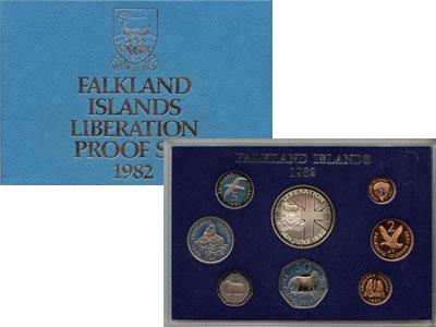Изображение Подарочные монеты Великобритания Фолклендские острова Выпуск монет 1982 года 1982  Proof