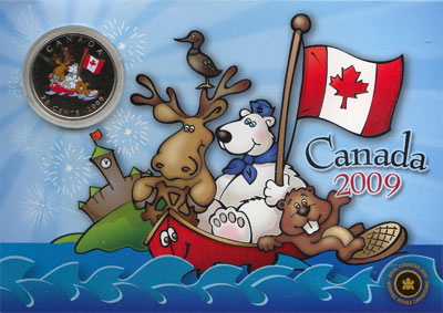 Изображение Подарочные монеты Канада Весёлая компания 2009 Медно-никель UNC