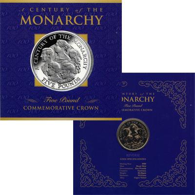 Изображение Подарочные монеты Гернси 5 фунтов 2000 Медно-никель BUNC `Подарочная монета `