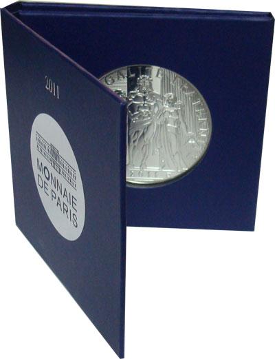 Изображение Монеты Франция 100 евро 2011 Серебро Proof