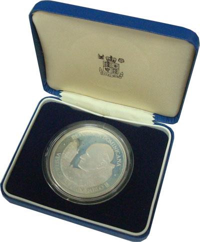 Изображение Подарочные монеты Доминиканская республика Визит Иоанна Павла 1979 Серебро