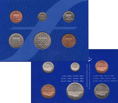 Изображение Подарочные монеты Нидерланды Выпуск монет 1999 года 1999  UNC Набор  монет 1999 го