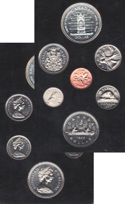 Изображение Подарочные монеты Канада Памятный набор 1977 года 1977  AUNC В наборе 7 монет Кан