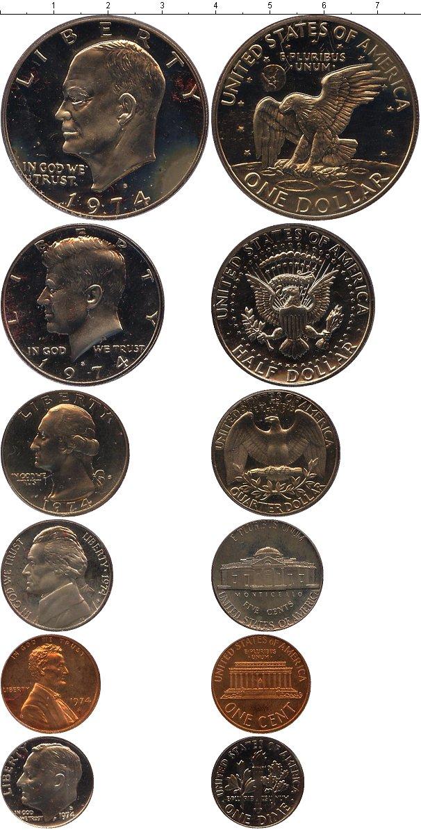 Подарочный набор монет сша выпуск монет 1973 года - 1973 год.
