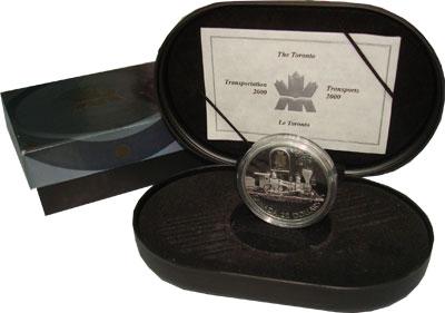 Изображение Подарочные монеты Канада Железнодорожная магистраль, Торонто 2000 Серебро Proof
