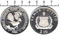 Изображение Монеты Самоа 10 тала 1986 Серебро Proof- 25-я годовщина образ