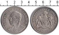 Изображение Монеты Гамбия 10 даласи 1975 Серебро XF 10-летие независимос