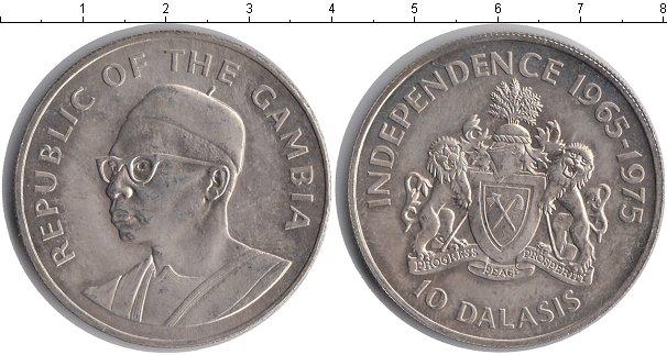 Картинка Монеты Гамбия 10 даласи Серебро 1975