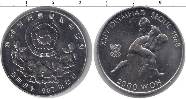 Картинка Мелочь Южная Корея 2.000 вон Медно-никель 1987