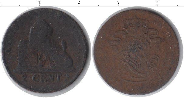 Картинка Монеты Бельгия 2 сантима Медь 0