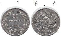 Изображение Мелочь 1894 – 1917 Николай II 25 пенни 1901 Серебро XF Финляндия