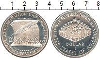 Изображение Мелочь США 1 доллар 1987 Серебро Proof-