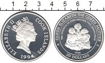 Изображение Монеты Острова Кука 20 долларов 1994 Серебро Proof- Елизавета II