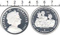 Изображение Монеты Гибралтар 1 крона 2001 Серебро Proof- Елизавета II