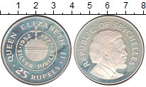 Изображение Монеты Сейшелы 25 рупий 1977 Серебро Proof-
