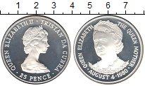 Изображение Монеты Великобритания Тристан-да-Кунья 25 пенсов 1980 Серебро Proof-