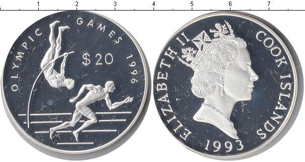 Картинка Монеты Острова Кука 20 долларов Серебро 1993