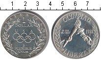 Изображение Мелочь США 1 доллар 1988 Серебро Proof Олимпийские игры 198