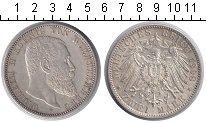 Изображение Монеты Вюртемберг 2 марки 1908 Серебро