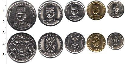 Изображение Наборы монет Бруней Бруней 2008-2010гг 2008  UNC В наборе 5 монет ном