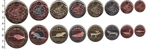 Изображение Наборы монет Северный Полюс Северный Полюс 2012 2012  UNC- В наборе 8 монет ном