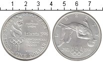 Изображение Монеты США 1 доллар 1996 Серебро UNC-
