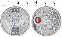 Изображение Монеты Польша 10 злотых 2008 Серебро Proof `90 лет ``Польскому