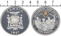 Изображение Монеты Замбия 1000 квач 1997 Серебро Proof-