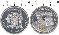 Изображение Монеты Ямайка 25 долларов 1997 Серебро Proof- Елизавета II
