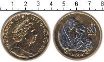 Изображение Монеты Остров Мэн 1 крона 2006 Серебро UNC 80 лет со дня рожден
