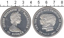 Изображение Монеты Маврикий 10 рупий 1981 Серебро Proof-