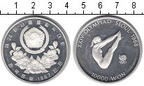 Изображение Монеты Южная Корея 10000 вон 1987 Серебро Proof- Олимпиада-1988 в Сеу