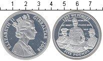 Изображение Монеты Гибралтар 5 фунтов 2008 Серебро Proof Чтобы помнили!