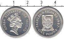 Изображение Монеты Фолклендские острова 1 фунт 1987 Серебро Proof- Елизавета II