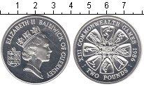 Изображение Монеты Гернси 2 фунта 1986 Серебро Proof- Елизавета II