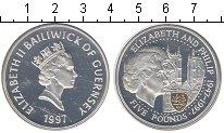 Изображение Монеты Гернси 5 фунтов 1997 Серебро Proof- Елизавета II