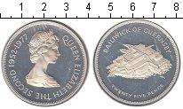 Изображение Монеты Гернси 25 пенсов 1977 Серебро Proof- Серебряный юбилей