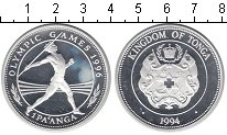 Изображение Монеты Тонга 1 паанга 1994 Серебро Proof Олимпиада 1996