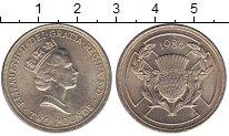 Изображение Мелочь Великобритания 2 фунта 1986 Медно-никель XF Елизавета II