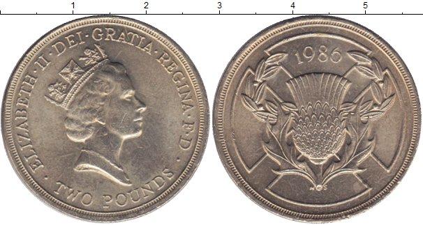 Картинка Мелочь Великобритания 2 фунта Медно-никель 1986