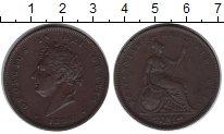 Изображение Монеты Великобритания 1 пенни 1826 Медь XF Георг IV