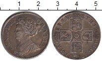 Изображение Монеты Великобритания 1 шиллинг 1711 Серебро VF Анна. KM# 523.1