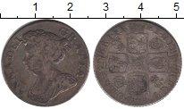 Изображение Монеты Великобритания 1 шиллинг 1710 Серебро  Анна. KM# 523.4