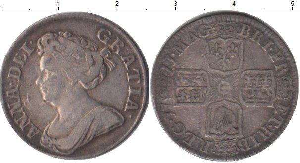 Картинка Монеты Великобритания 1 шиллинг Серебро 1711